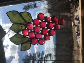 Stained glass -A bunch of Grapes!