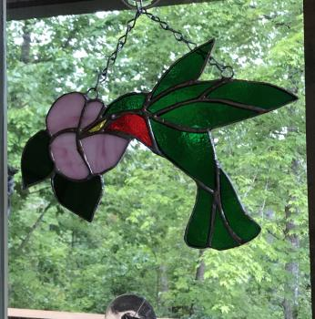 Intro to Stained Glass Hummingbird
