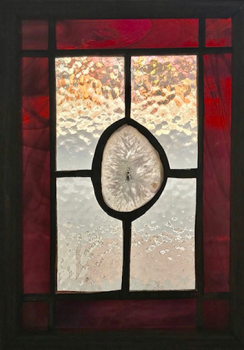 Stained Glass and Agate 8x10 panel