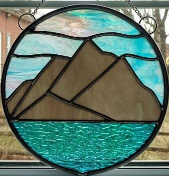 Mountains in the round Suncatcher